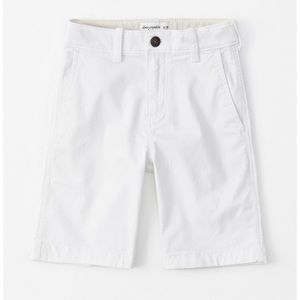 Size 12 classic white shorts from abercrombie kids